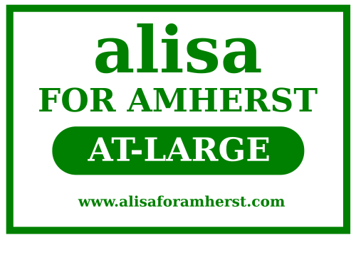 alisa for amherst lawn sign